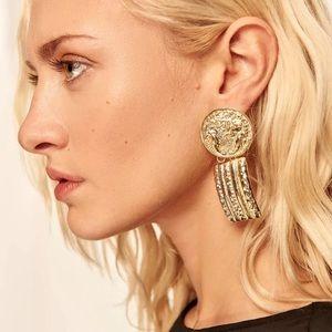 Zara gold tone earrings